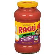 Ragu Robusto Sauteed Onion Garlic Spaghetti Sauce