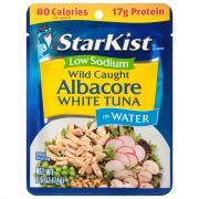 StarKist Low Sodium Albacore White Tuna in Water Pouch