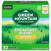 Green Mountain Coffee Breakfast Blend K-Cups Value Pack