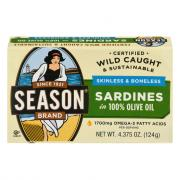 Season Skinless & Boneless Sardines In Pure Olive Oil