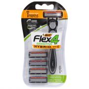 BIC Hybrid 4 Flex 4-Blade Disposable Razor System