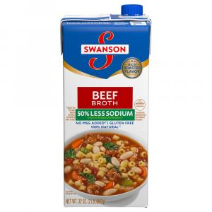 Swanson Aseptic 50% Lower Sodium Beef Broth