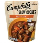 Campbell's Slow Cooker Sauces Beef Stew
