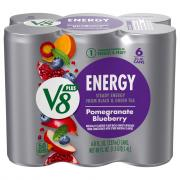 V8 V-Fusion +Energy Pomegranate Blueberry