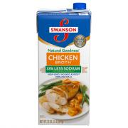 Swanson Natural Goodness 33% Less Sodium Chicken Broth