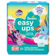 Pampers Easyups Girls 3T-4T Training Underwear