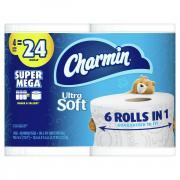 Charmin Ultra Soft Super Mega Roll Bathroom Tissue