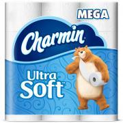 Charmin Ultra Soft Bathroom Tissue Super Mega Roll