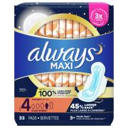 Always Maxi Overnight Pads Jumbo
