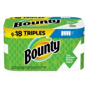 Bounty White Select a Size Triple Roll Paper Towels