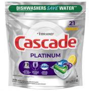 Cascade Platinum Action Pacs Lemon Scent
