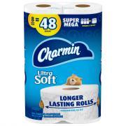 Charmin Ultra Soft Super Mega Rolls
