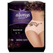 Always Discreet Boutique Maximum Protection Underwear Large