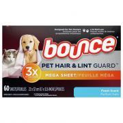 Bounce Pet Hair & Lint Guard Mega Sheet Fresh Scent