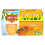 Del Monte Fruit2Go Diced Peaches in 100% Juice