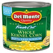 Del Monte 50% Less Salt Whole Kernel Corn