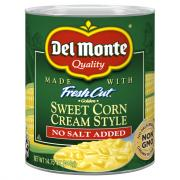 Del Monte No Salt Added Cream Style Corn