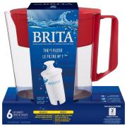 Brita Soho Color Series Red Pitcher