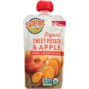 Earth's Best Organic Sweet Potato Apple Baby Food Puree