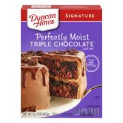 Duncan Hines Signature Triple Chocolate Cake Mix