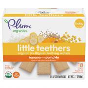 Plum Organics Little Yums Pumpkin & Banana Teething Wafers