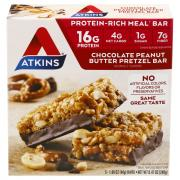 Atkins Chocolate Peanut Butter Pretzel Bars