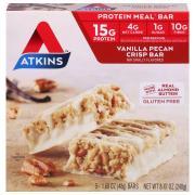 Atkins Vanilla Pecan Crisp Meal Bar