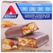 Atkins Caramel Chocolate Peanut Nougat Bars