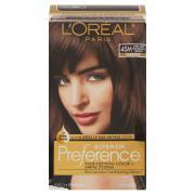 L'Oreal Preference #4SM Dark Soft Mahogany Brown Hair Color