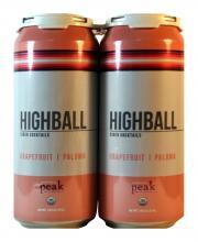 Peak Organic Brewing Co. HighBall Grapfruit Cider Cocktail