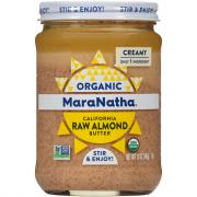 MaraNatha Organic Creamy Raw Almond Butter