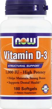 NOW Vitamin D 1000 I.U. Softgels