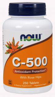 NOW Vitamin C 500 mg with Rose Hips