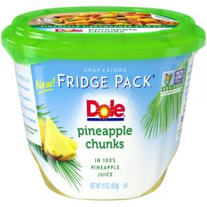 Dole Fridge Pack Pineapple Chunks in 100% Pineapple Juice