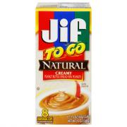 Jif To Go Natural Creamy