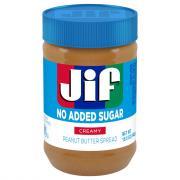 Jif No Added Sugar Creamy Peanut Butter