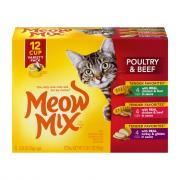 Meow Mix Tender Favorites Beef & Poultry Variety Pack