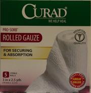 """Curad Premium Rolled Gauze 3"""" X 90"""""""