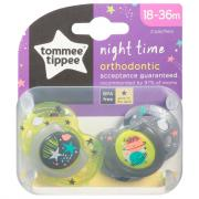 Tommee Tippee 18 to 36 Month Night Time Orthodontic Pacifier