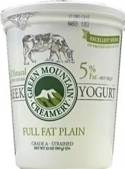 Green Mountain Creamery Greek Full Fat Plain Yogurt