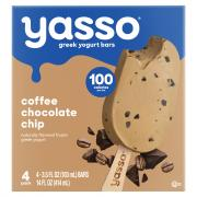 Yasso Coffee Chocolate Chip Frozen Greek Yogurt Bars