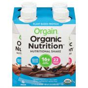 Orgain Organic Plant Base Chocolate Shakes