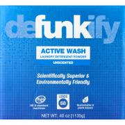 Defunkify Active Wash Unscented Laundry Detergent Powder