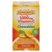 Emergen-C Vitamin C Chewables 1000mg Orange Blast