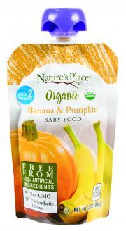 Nature's Place Organic Banana & Pumpkin Baby Food