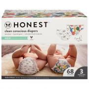 Honest Gentle + Absorbent Panda Giraffe Diapers Size 3