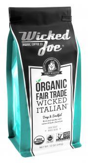 Wicked Joe Organic Italian Blend Whole Bean Coffee