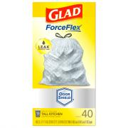 Glad ForceFlex Plus Odor Shield Drawstring Trash Bags