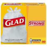 Glad Quick Tie 13-Gallon Tall Kitchen Bags