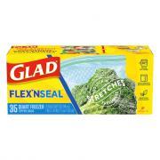 Glad Flex'n Seal Quart Freezer Zipper Bags